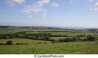 View to Whitecliff Bay Isle of Wigh - Countryside view...