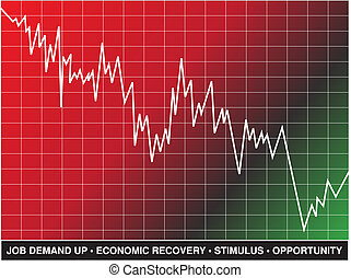 Stock Market Recovery - A line graph and text represent...