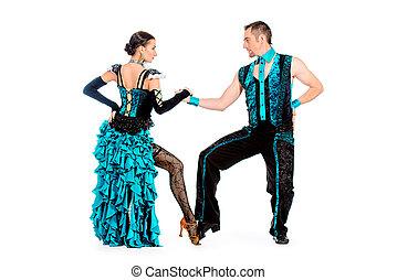 rumba people - Beautiful professional dancers perform tango...
