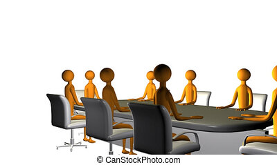 Business board meeting in High Definition
