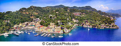 Portofino Italy Panorama - Panorama of Portofino on the...