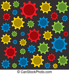 colorful gear pattern background