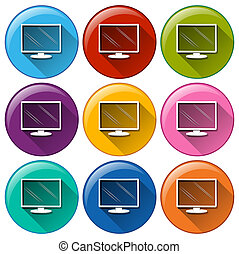 Computer icons - Illustration of the computer icons on a...