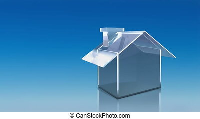 investment glass house sky - the house graphic 3d animation...
