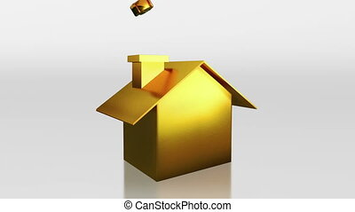 investment gold house saving HD - the house graphic 3d...