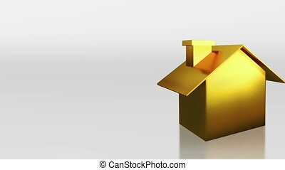 investment gold house sale and rent - the house graphic 3d...