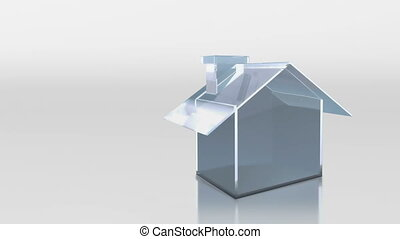 investment glass house HD - the house graphic 3d animation...