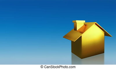 investment gold and silver house - the house graphic 3d...
