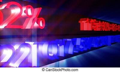 stock market figures in motion - 3d stock market figures in...