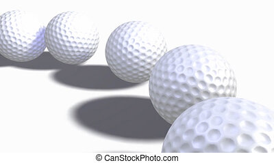 Collection of Golf Balls - Collection of 3d Golf Balls