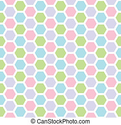 Multicolored hexagon geometric seamless background.