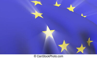 European Union Flag - 3d European Union