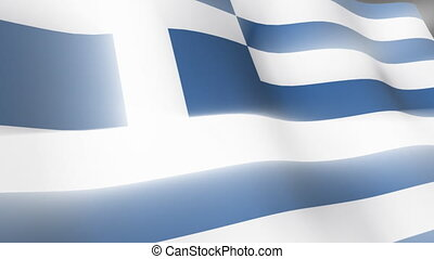 Greek Falg - 3D Greek Flag