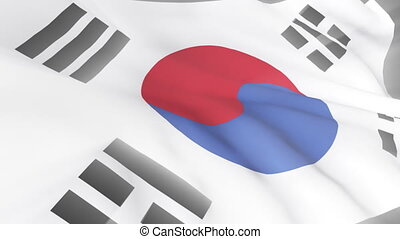 South Korean Flag - 3D South Korean Flag