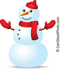 Snowman in red hat