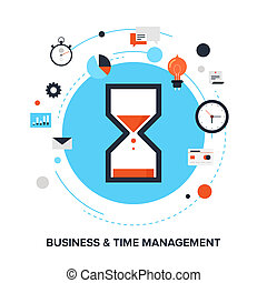 Time management - Vector illustration of business and time...