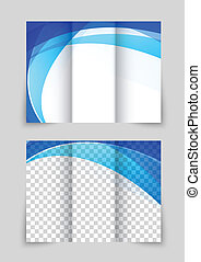 Abstract brochure - Abstract tri-fold wave blue brochure for...