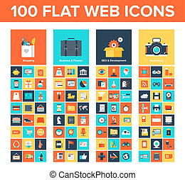 Web icons - Vector collection of flat and colorful web icons...