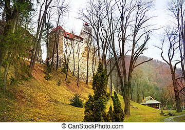 Bran Castle Dracula castle in Transylvania and Wallachia,...