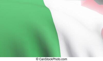 Italian Flag - 3D Italian Flag