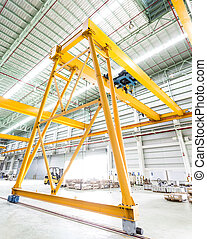 Gantry crane in factory