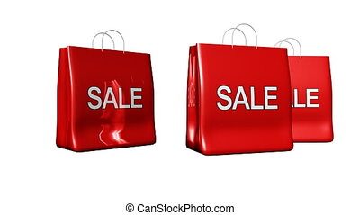 Bags with Sale sign - Animation of bags with Sale sign