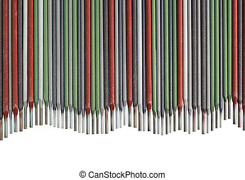 Welding Sticks Cutout - Colorful Welding Sticks Electrodes...