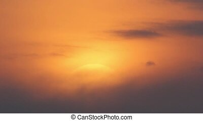 Sunset with clouds, evening