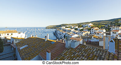 Mediterranean village - View of a typical whitewashed...
