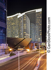 Las Vegas Strip by night - Las Vegas Strip by night, Nevada,...