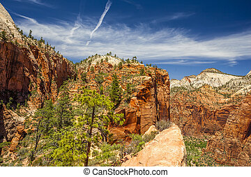 Beautiful aerial views from Zion National Park. - Canyon...