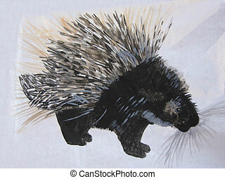 Illustration Of The Porcupine