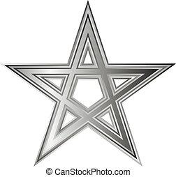 Pentagram icon on white background Vector illustration