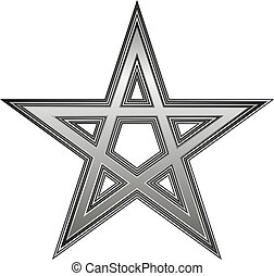 Pentagram icon on white background Vector illustration