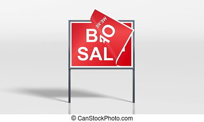 shop signage stand open big sale 4k - the promotion signage...