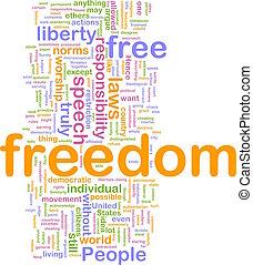 frihet, ord, moln