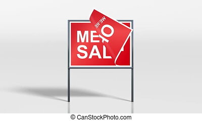 shop signage stand open mega sale - the promotion signage of...