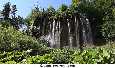 Waterfall in Croatia - Waterfall in the Plitvice Lakes...