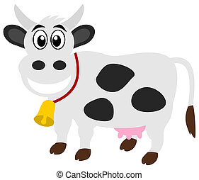 a smiling dairy cow
