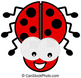 ladybird with big eyes