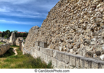 ancient city of Chersonesus - The remains of the ancient...