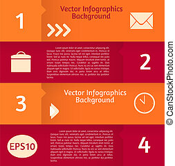 Abstract vector infographics background