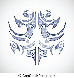Maori tribal tattoo - Vector illustration for maori tribal...