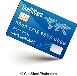 Realistic vector Credit Card