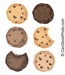 cookie symbols - an illustration of a selection of delicious...