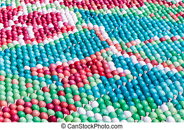 background many colored eggs