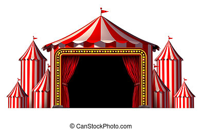 Circus Stage - Circus stage tent design element as a group...