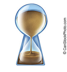 Longevity Key - Longevity key health concept as an hourglass...