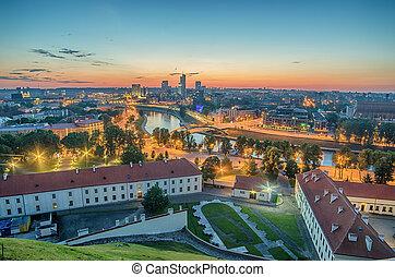 panorama of Vilnius, Lithuania - Aerial panorama of Vilnius,...