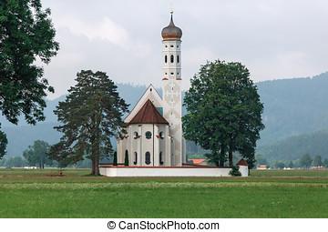 church in the Bavarian Alps